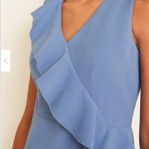 Ruffle double weaved dress